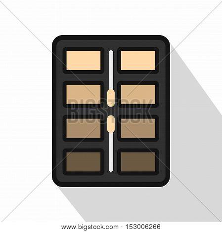 Brown tone make up palette icon. Flat illustration of brown tone make up palette vector icon for web