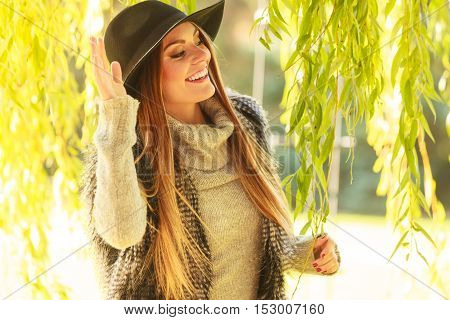 Fashionable Girl Waiting For Someone