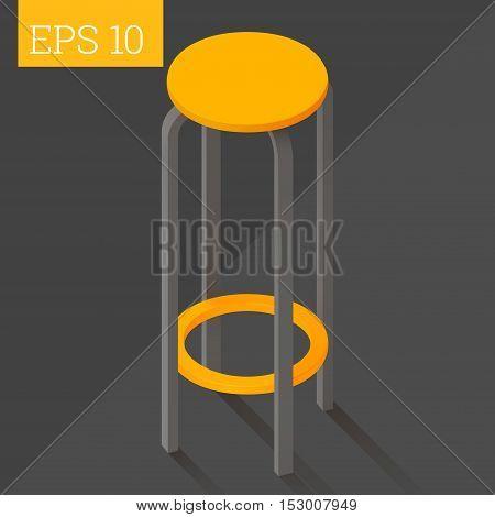 Bar Chair Isometric Vector Illustration