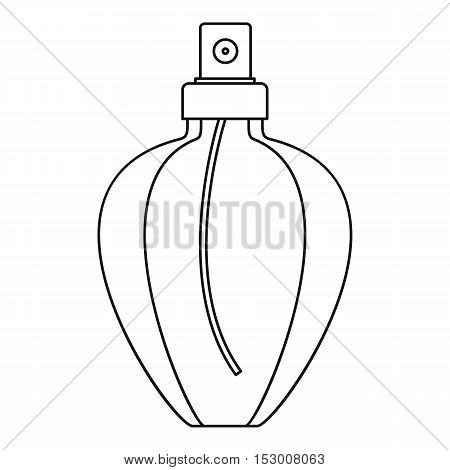 Female perfume flacon icon. Outline illustration of female perfume flacon vector icon for web