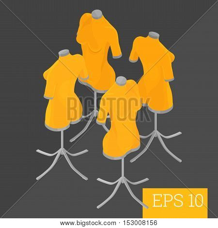 Dummy Mannequin Isometric Vector Illustration