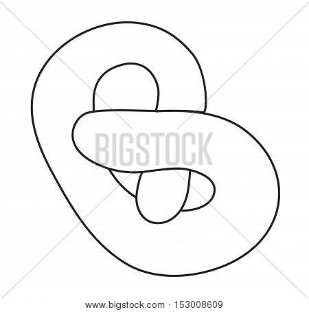 Croissant vector food isolated on white background. Fresh croissant French breakfast icon. Flat croissant vector symbol isolated. Croissant food vector sign