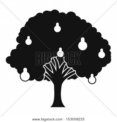 Pear tree with pears icon. Simple illustration of pear tree with pears vector icon for web