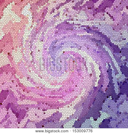 Abstract coloring background of the abstract gradient with visual illusion,mosaic, wave,stained glass and twirl effects