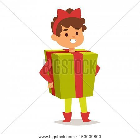 Illustration of carnival costume kid vector.