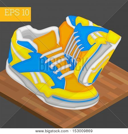 pair of sneakers shoes eps10 vector illustration