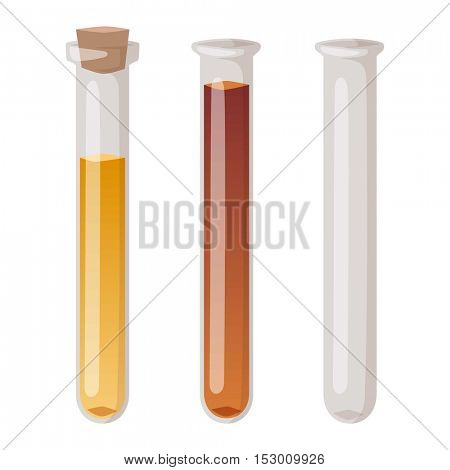 Lab flask vector isoaled