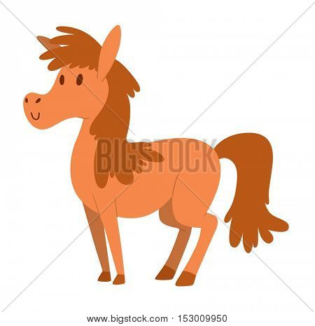 Cartoon horse vector character