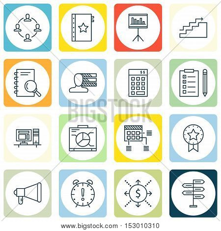 Set Of Project Management Icons On Opportunity, Growth And Collaboration Topics. Editable Vector Ill