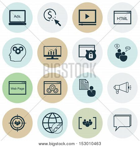 Set Of Advertising Icons On Ppc, Focus Group And Questionnaire Topics. Editable Vector Illustration.