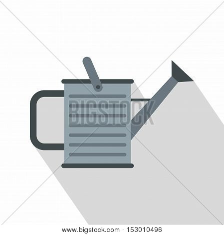 Steel watering can icon. Flat illustration of steel watering can vector icon for web
