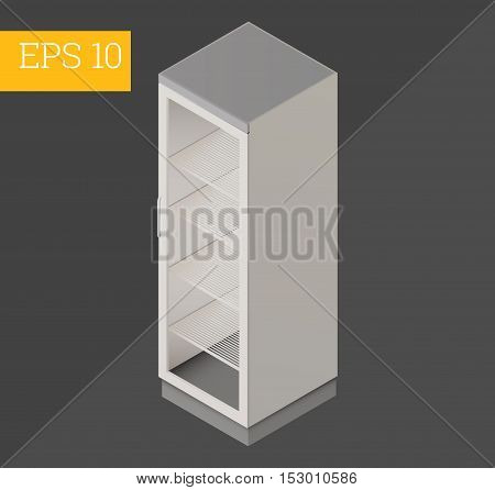 refrigerator eps10 vector 3d illustration. beverage chiller