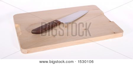 Knife On Cutting Board