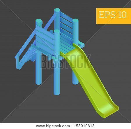 child slider eps10 vector illustration. outdoor colorful playground element