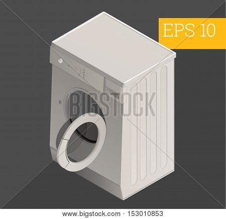 washing machine eps10 vector illustration. electrical washmachine