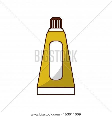 Color bottle icon. School supply tool instrument and education theme. Isolated design. Vector illustration