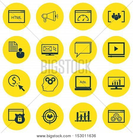 Set Of Marketing Icons On Coding, Security And Brain Process Topics. Editable Vector Illustration. I