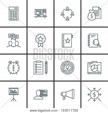 Set Of Project Management Icons On Personal Skills, Investment And Board Topics. Editable Vector Ill