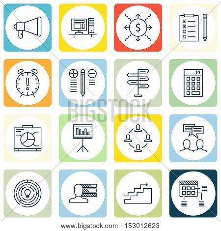 Set Of Project Management Icons On Innovation, Personal Skills And Money Topics. Editable Vector Ill