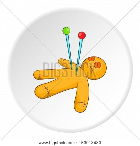 Voodoo doll icon. Isometric illustration of voodoo doll vector icon for web