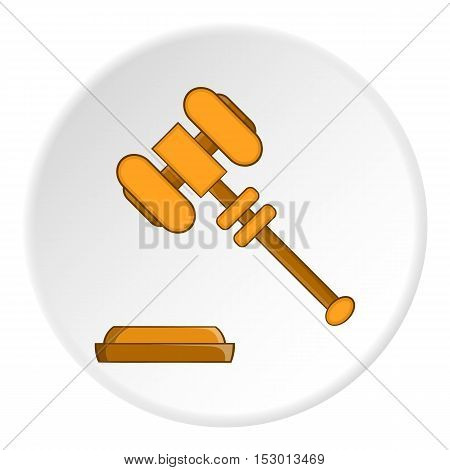 Gavel icon. Flat illustration of gavel vector icon for web