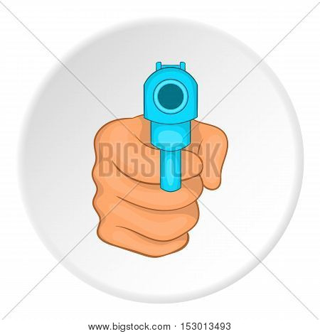Gun icon. Flat illustration of gun vector icon for web