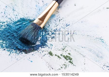 Crisp blue shadows with brush on white background