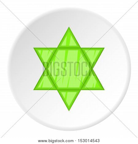 Star of David icon. Flat illustration of star of David vector icon for web