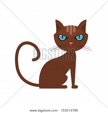 Cat cartoon icon. Pet animal domestic and care theme. Isolated design. Vector illustration