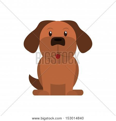 Dog cartoon icon. Pet animal domestic and care theme. Isolated design. Vector illustration