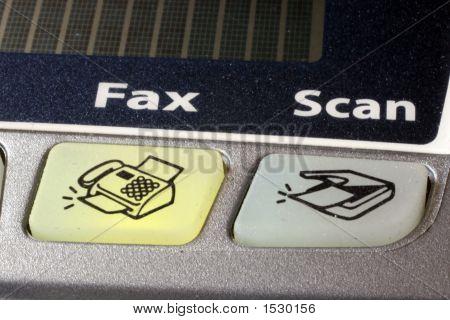 Fax Button Of Fax Machine