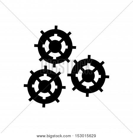 Gears icon. Cog machine part technology and industry theme. Isolated design. Vector illustration