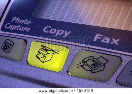 Copy Button Of Fax Machine