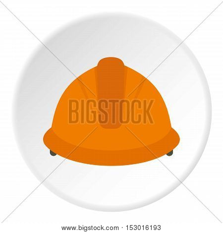 Construction helmet icon. Flat illustration of construction helmet vector icon for web