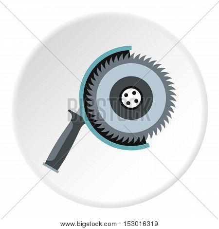 Circular saw icon. Flat illustration of circular saw vector icon for web