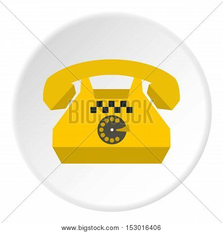 Taxi phone icon. Flat illustration of taxi phone vector icon for web