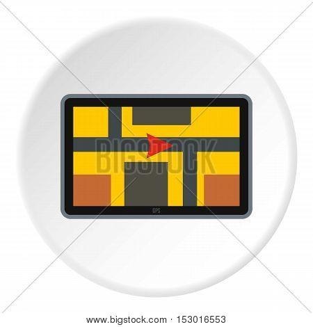 GPS navigation icon. Flat illustration of GPS navigation vector icon for web