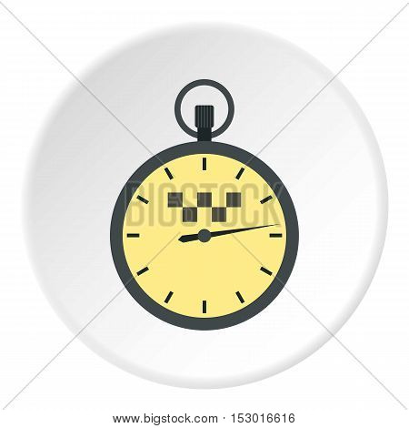Speedometer in taxi icon. Flat illustration of speedometer in taxi vector icon for web