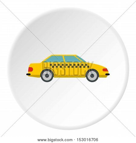 Taxi icon. Flat illustration of taxi vector icon for web
