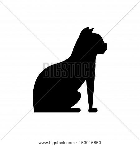 Cat silhouette icon. Pet animal domestic and care theme. Isolated design. Vector illustration