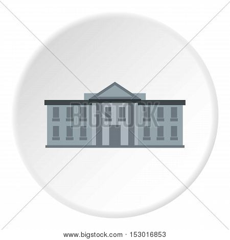 White house USA icon. Flat illustration of white house USA vector icon for web
