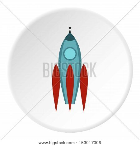 Aircraft rocket icon. Flat illustration of aircraft rocket vector icon for web