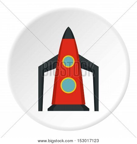 Rocket for space flight icon. Flat illustration of rocket for space flight vector icon for web