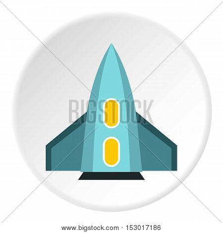 Space rocket for fly icon. Flat illustration of space rocket for fly vector icon for web