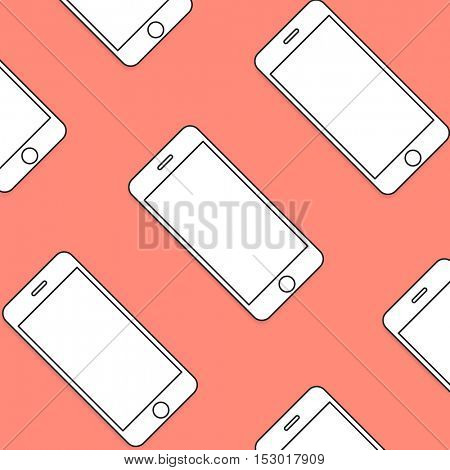 Smartphone Mobile Cellular Phone Modern Communication Device Concept