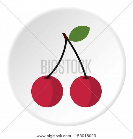 Cherry icon. Flat illustration of cherry vector icon for web