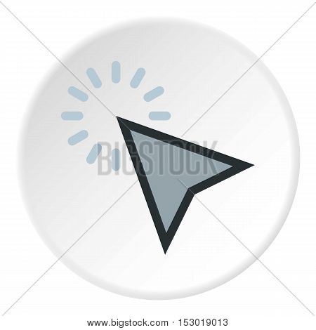 Cursor clicks icon. Flat illustration of cursor clicks vector icon for web