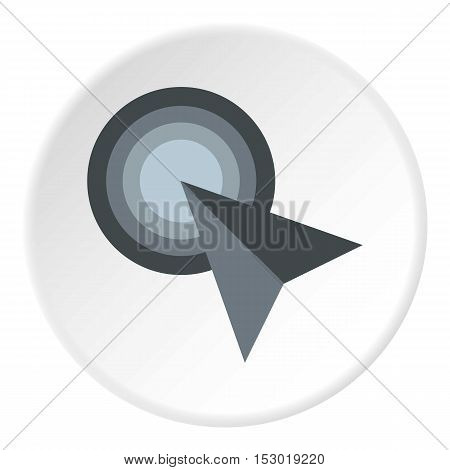Grey arrow cursor icon. Flat illustration of grey arrow cursor vector icon for web