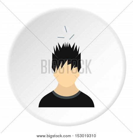 Male avatar and pills icon. Flat illustration of male avatar and pills vector icon for web