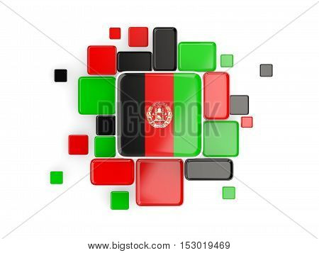 Flag Of Afghanistan, Mosaic Background